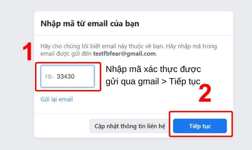 Lập nick Facebook bằng Gmail trên máy tính