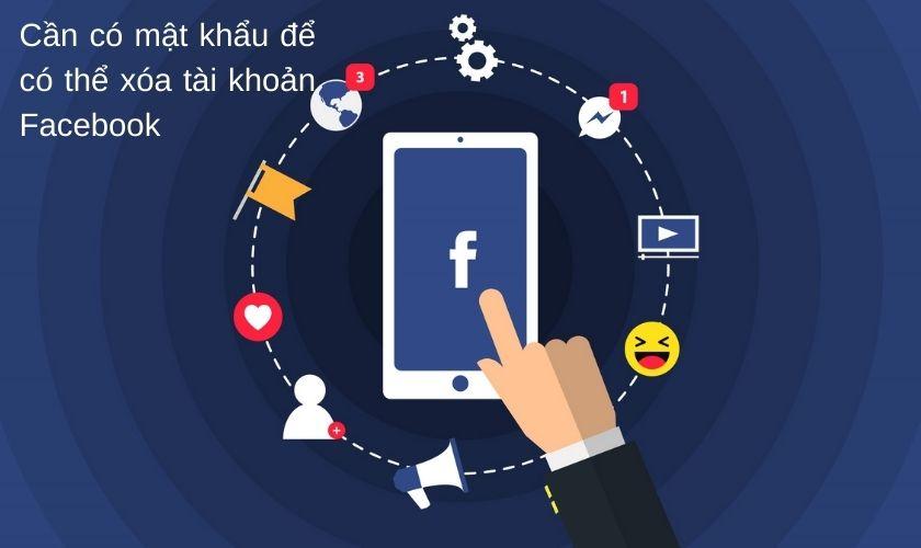 Có thể xóa tài khoản Facebook mà không cần mật khẩu hay không?