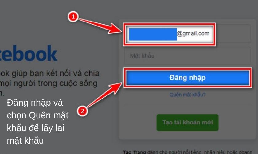 Cách lấy lại mật khẩu Facebook