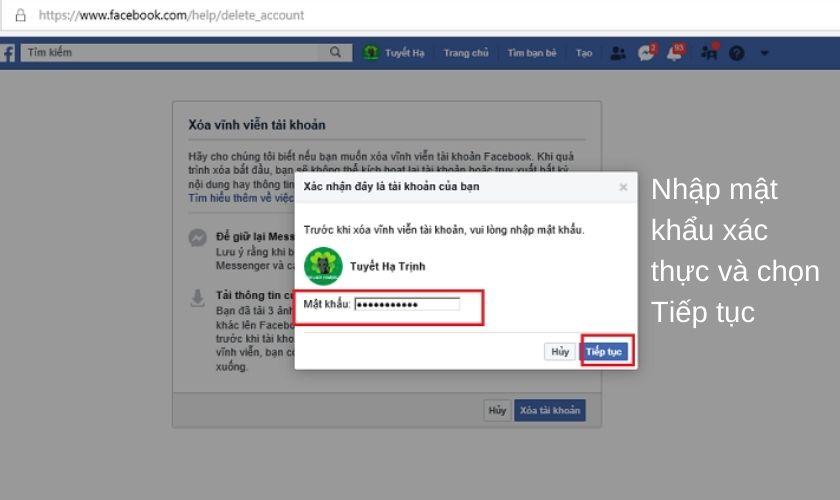 Cách xóa tài khoản Facebook không cần mật khẩu